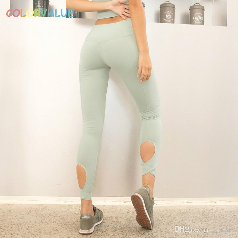 ed4afe82ef638 value Calf Hollow Out Yoga Gym Pants Women Stunning Color Fitness Athletic  Leggings Anti Sweat Hip Up Running Sport Tights #208099 From I_jersey, ...
