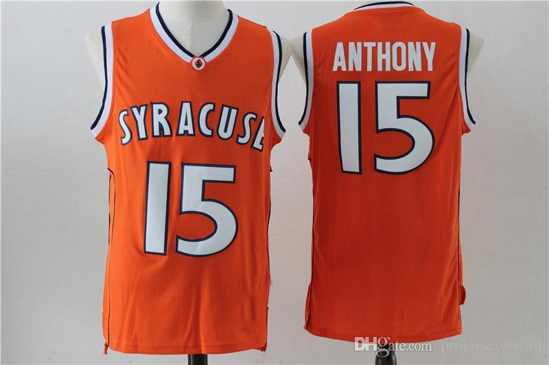 83acc5d19f9 2019 Syracuse Orange 15 Carmelo Anthony NCAA Jersey Mens All ...