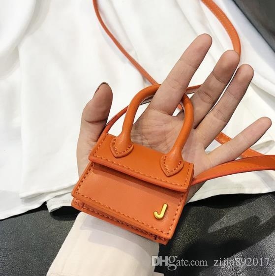 2019 New Woman Orange Color Mini Bag Hanging Decoration Bag Accessories Simple Hand-stitched Bag Ornament All Match Dropship J431