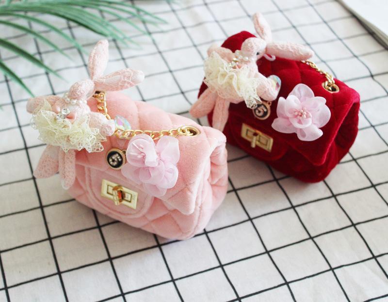 ac6376cf5e Fashion Baby Girls Princess Handbags Cute Bunny Flower Bling Kids Mini Bags  2019 New metal Children Casual Purses B11