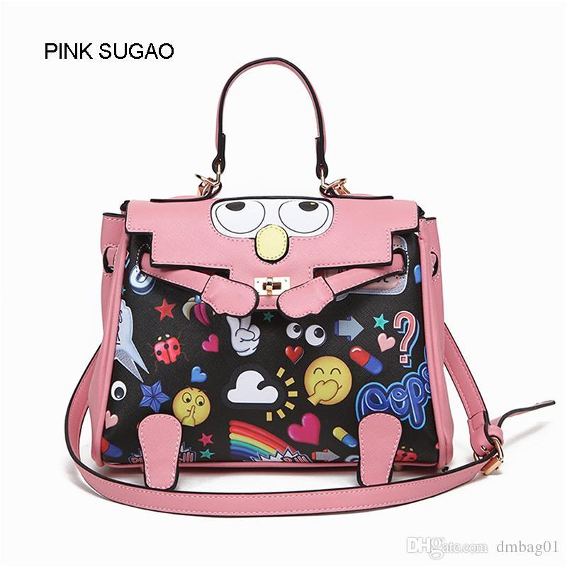 9e956d43db5c Pink Sugao Designer Women Shoulder Handbag Luxury Fashion Crossbody Handbag  Cartoon Flower Printed Handbags Big Eye Leather Bag Famous Brand Messenger  Bags ...