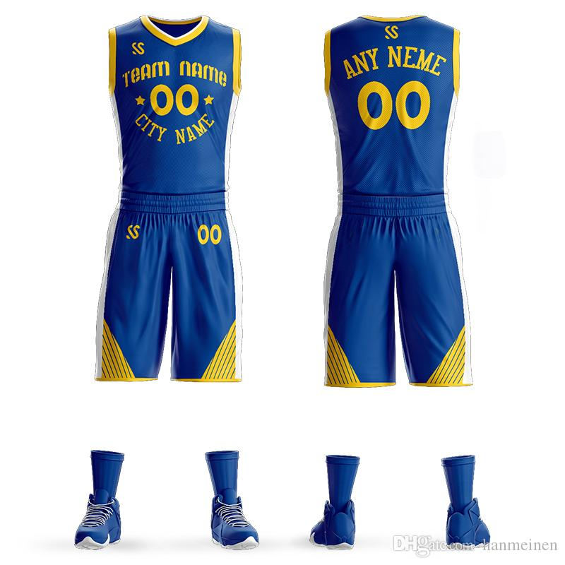 1c2ce9d4696 2019 Custom Mens Basketball Jersey Sets DIY Uniforms Kits Boy Sports  Clothing Draymond Green Breathable Customized College Team Basketball Jersey  From ...