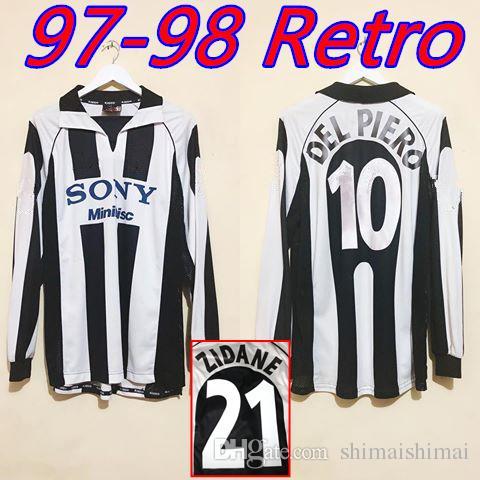 0bb62adf6cc 2019 RETRO 1997 1998 Juventus ZIDANE Soccer Jersey DEL PIERO 97 98 INZAGHI  Shirt Classic Commemorate Antique Maglia Da Calcio Long Sleeve From  Shimaishimai