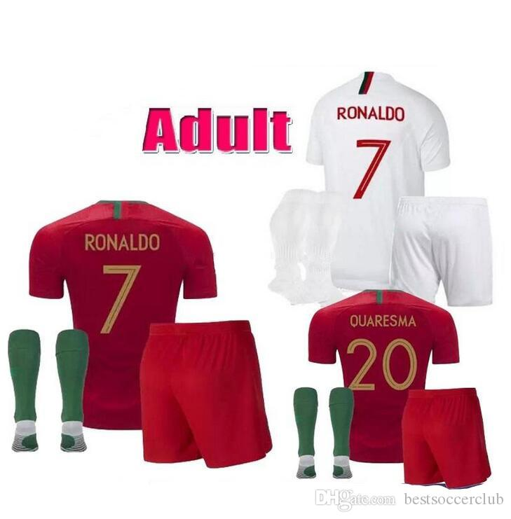 29234035153 2019 Adult Kits 2018 2019 BERNARDO Soccer Jerseys QUARESMA 18 19 World Cup  Portuguese DANILO PEPE Men Football Jersey Shirt From Bestsoccerclub