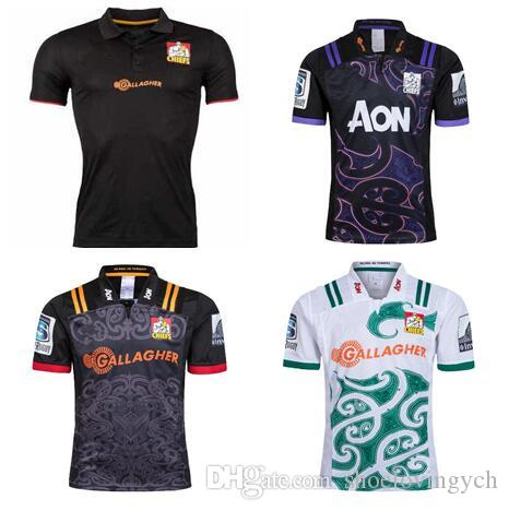 63306d989 2018 19 Chiefs Super Rugby Home Away Jersey New Zealand Super Chiefs Rugby  Jerseys Black Chieftain SIZE S 3XL UK 2019 From Shoelovingych