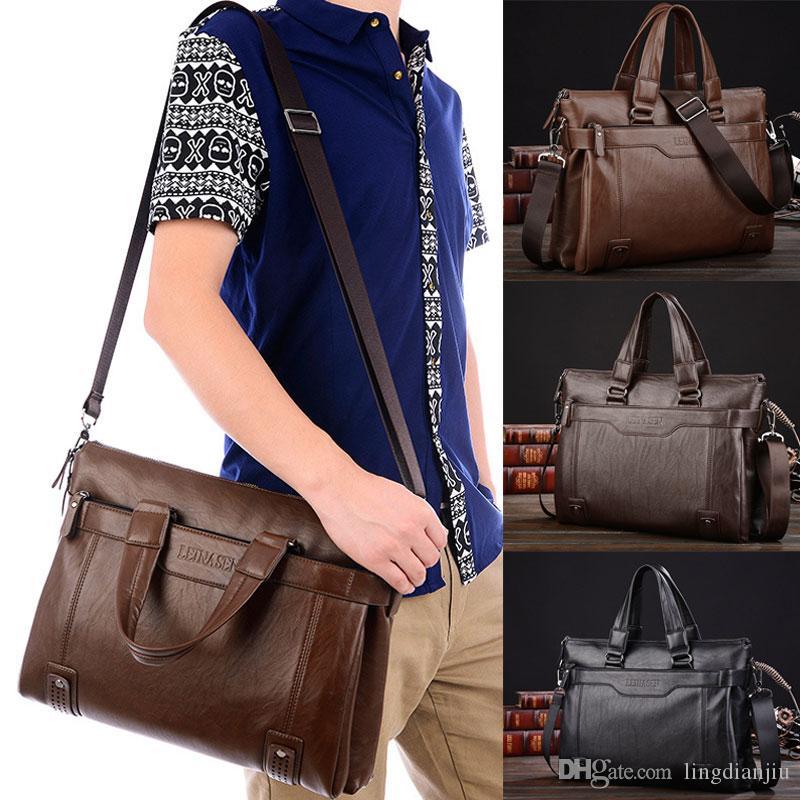 b49e4b7aeee4 Men S Diagonal Handbag Handbag Computer Bag Men S Shoulder Bag Shoulder Bags  For Men Mens Leather Briefcase From Lingdianjiu