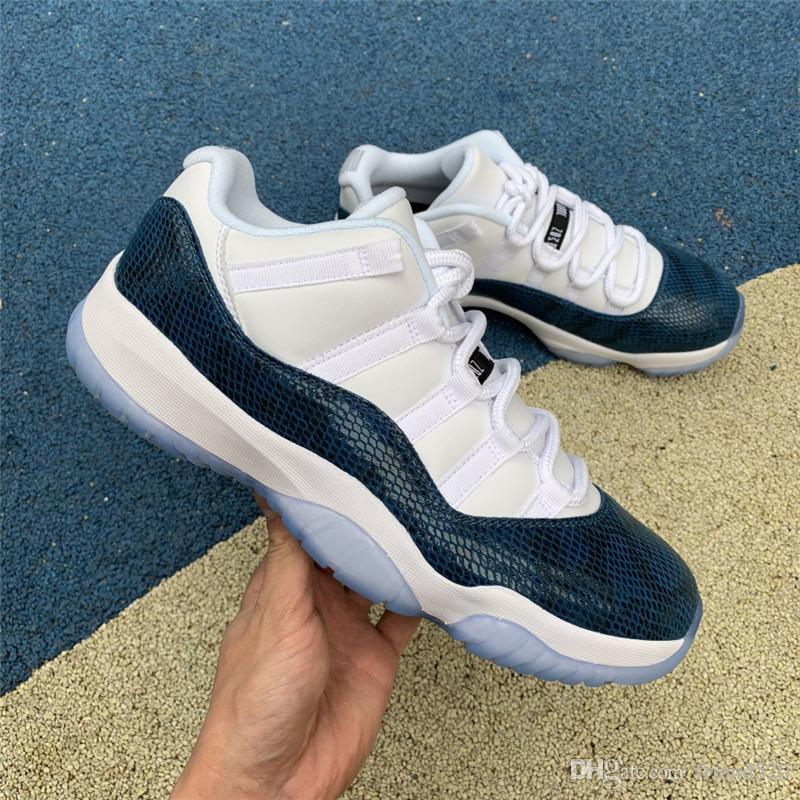9196f6d0b9530e 2019 Authentic Originals Air Low 11 Snake Navy Blue Snakeskin CD6846 ...