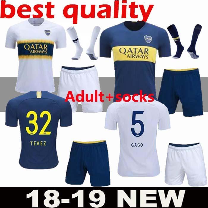 8dc0c35d9 Compre Tailandia 2018 2019 Camisetas De Fútbol De Boca Juniors 18 19  Camisetas De Camiseta De Fútbol De GAGO TEVEZ CARDONA ALIBA Boca Junior  PAVON KIT De ...