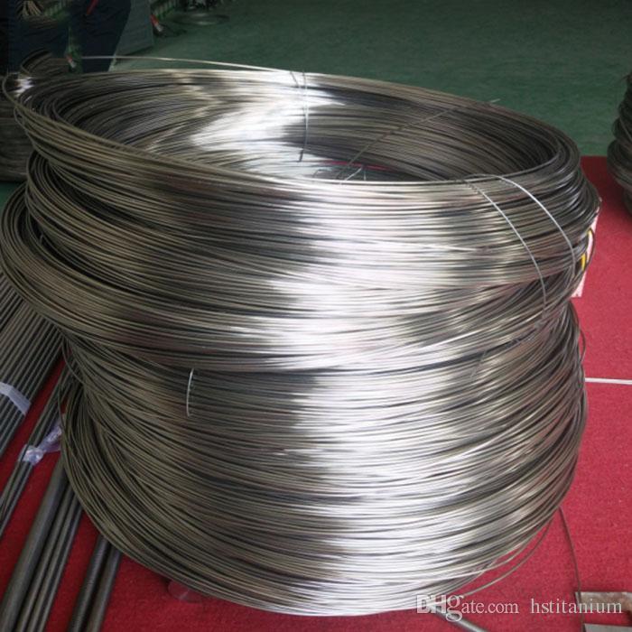 pure titanium straight wire Gr1,Gr2 ASTM B863 Titanium metal sales ti wire  in spool best price for grade customer
