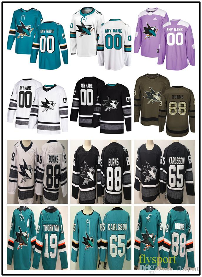 size 40 aec65 3d7f4 Custom Hockey Jerseys San Jose Sharks 28 Timo Meier 48 Tomas Hertl 51 Radim  Simek 72 Tim Heed 88 Burns Men Women Kids authentic