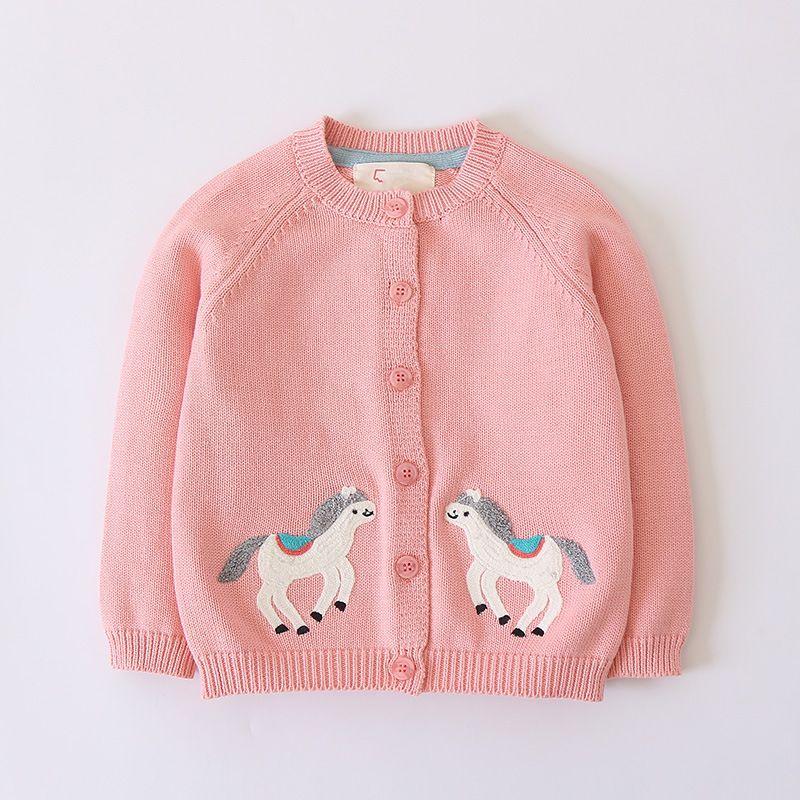 5a7e9aa4d 2018 Autumn Winter Children S Clothes Girls Sweaters Causal Horse ...