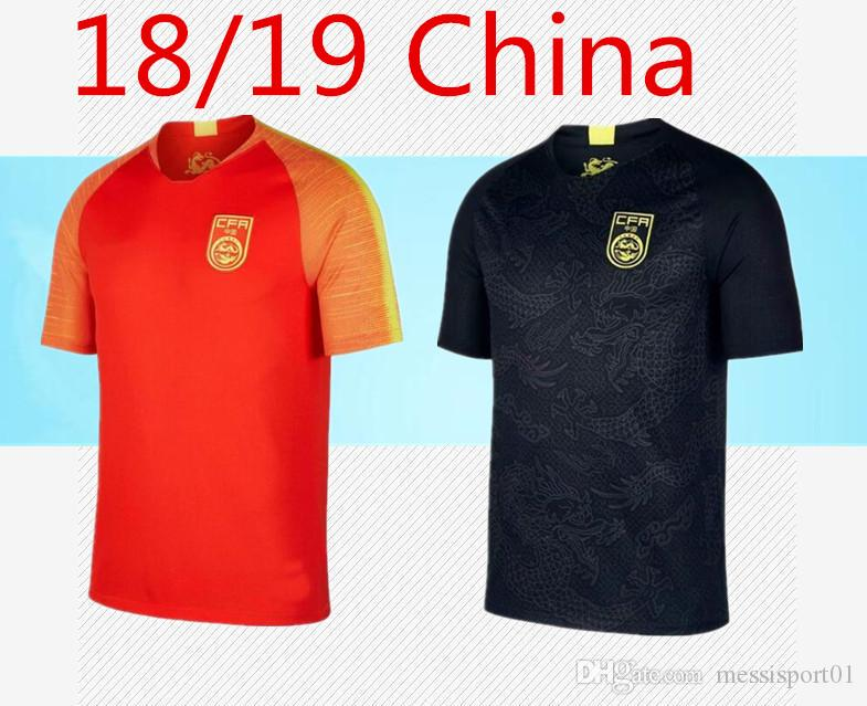 new concept 61c92 60dca 2018/19 Chinese black dragon soccer jersey black football Jersey the china  national team black dragon Jersey national football uniform.