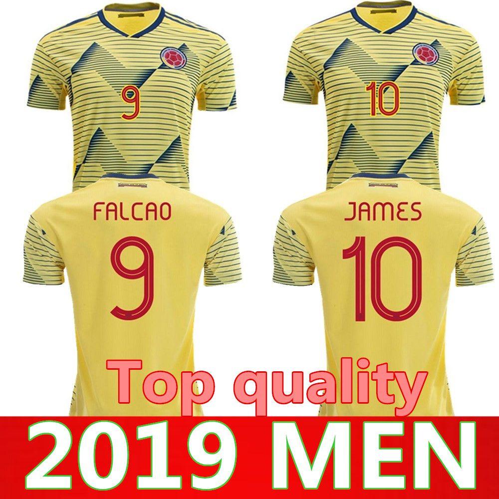 bb7b8ad2404 2019 Colombia Soccer Jerseys Copa America Columbia Football Shirt ...