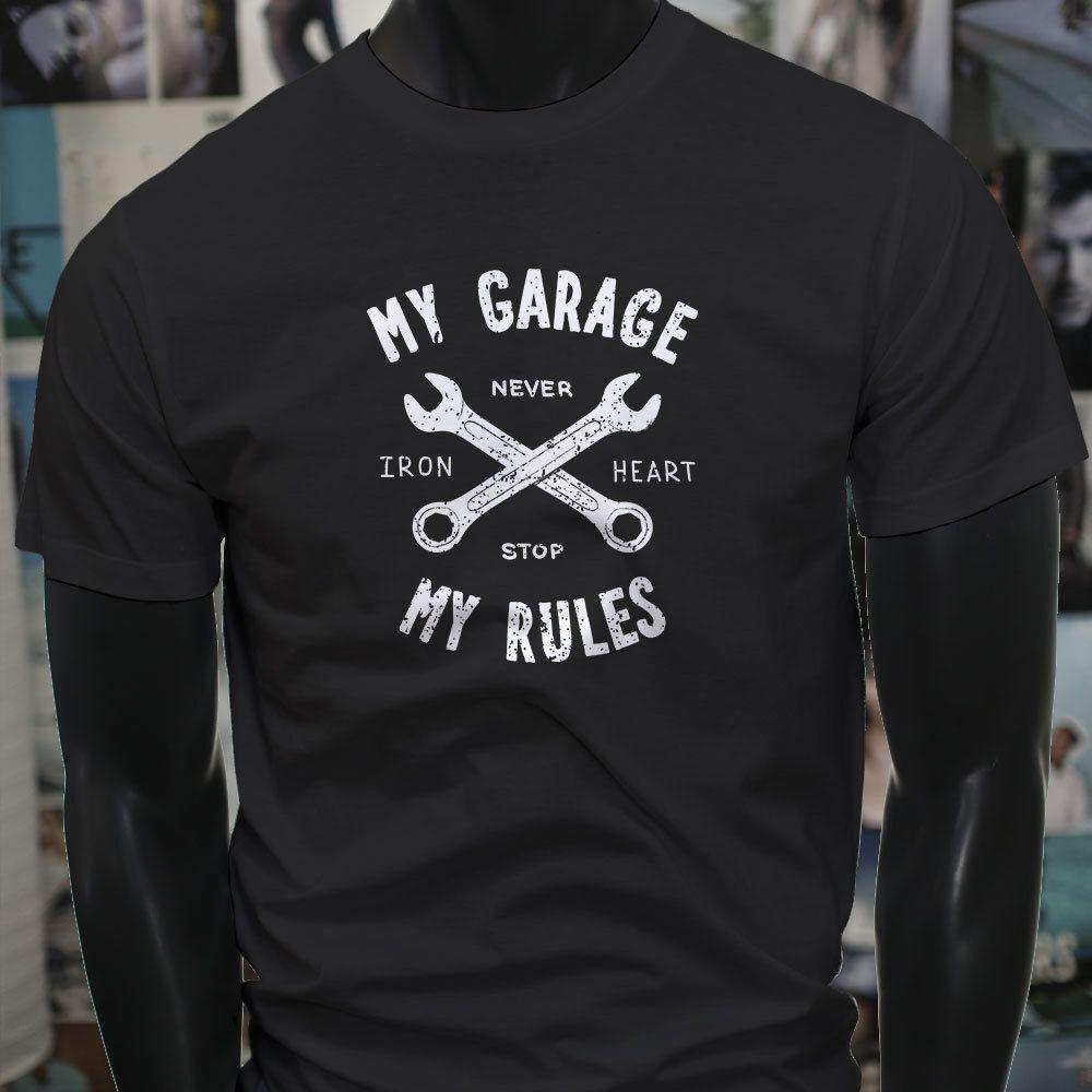 My Garage My Rules Wrench Tools Repair Mechanic Mens Black T Shirt T