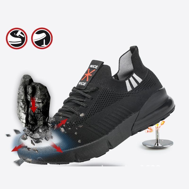 Acero Puntera Seguridad Trabajo Zapatos Botas Punteras Anti De Aplastante HE2e9IWYD