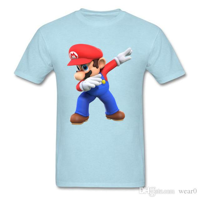 98bd542a 2019 Womens Luxury Designer T Shirts Men T Shirts 3D Tshirt Super Mario Bros  T Shirt Funny Dabbing Mario Printed Clothes Summer Top Tees A T Shirts Fun T  ...
