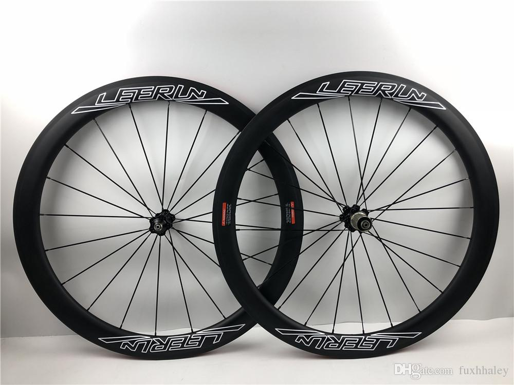 25508fc1c1b Ultra-light LEERUN 50mm 700C Rims UD Matte Road Bicycle Carbon ...