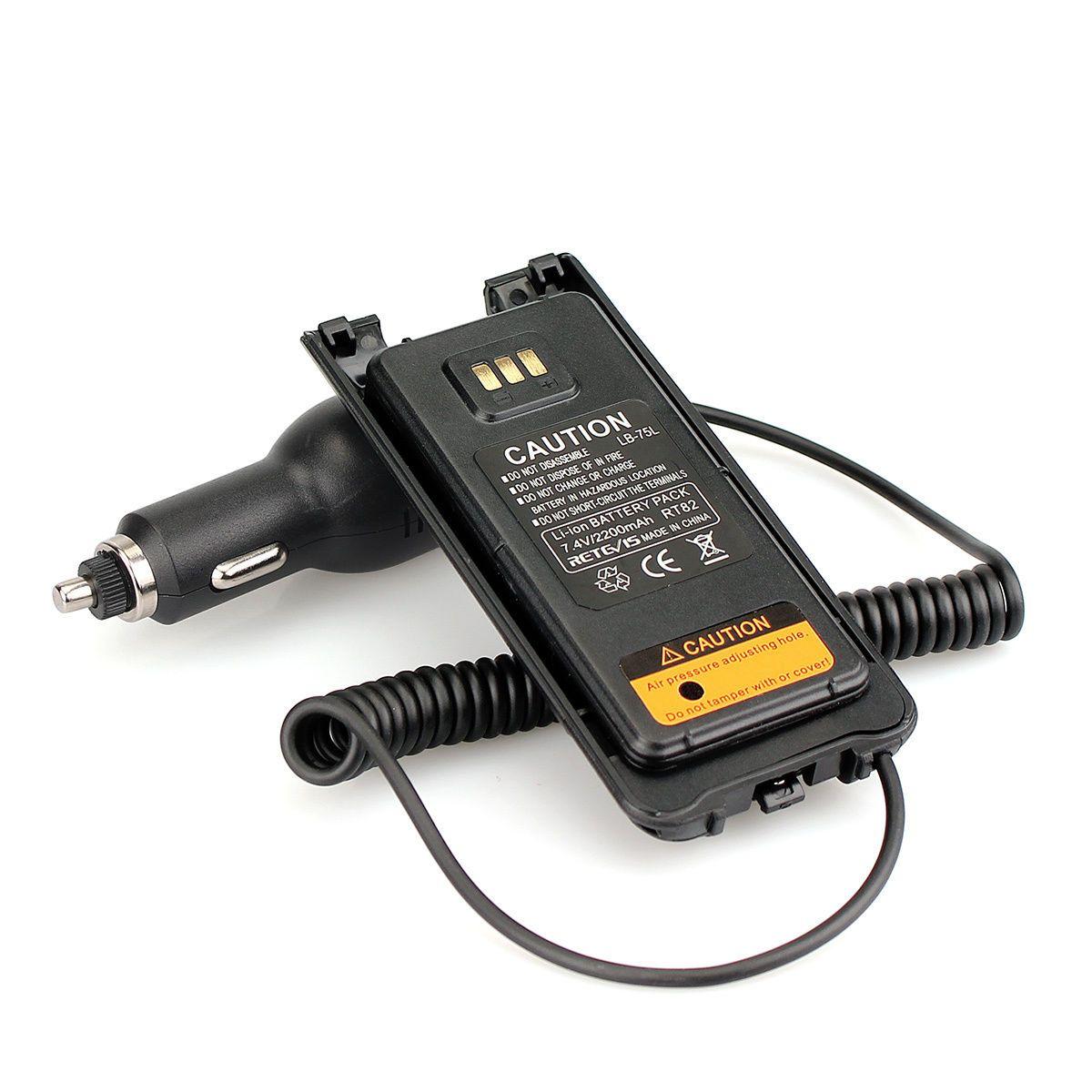 Retevis RT82 Radyo Hoparlör Mic + Araç Radyo Şarj Cihazı Pil Eliminator + Kulaklık