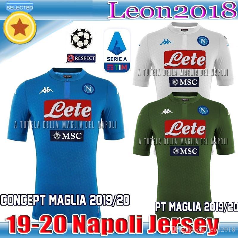fcef4e8741a 2019 Thai Quality 19 20 Napoli Soccer Jersey 2019 2020 Home Away Black  Naples ZIELINSKI HAMSIK INSIGNE MERTENS CALLEJON Football Jerseys Shirt  From Leon2018 ...