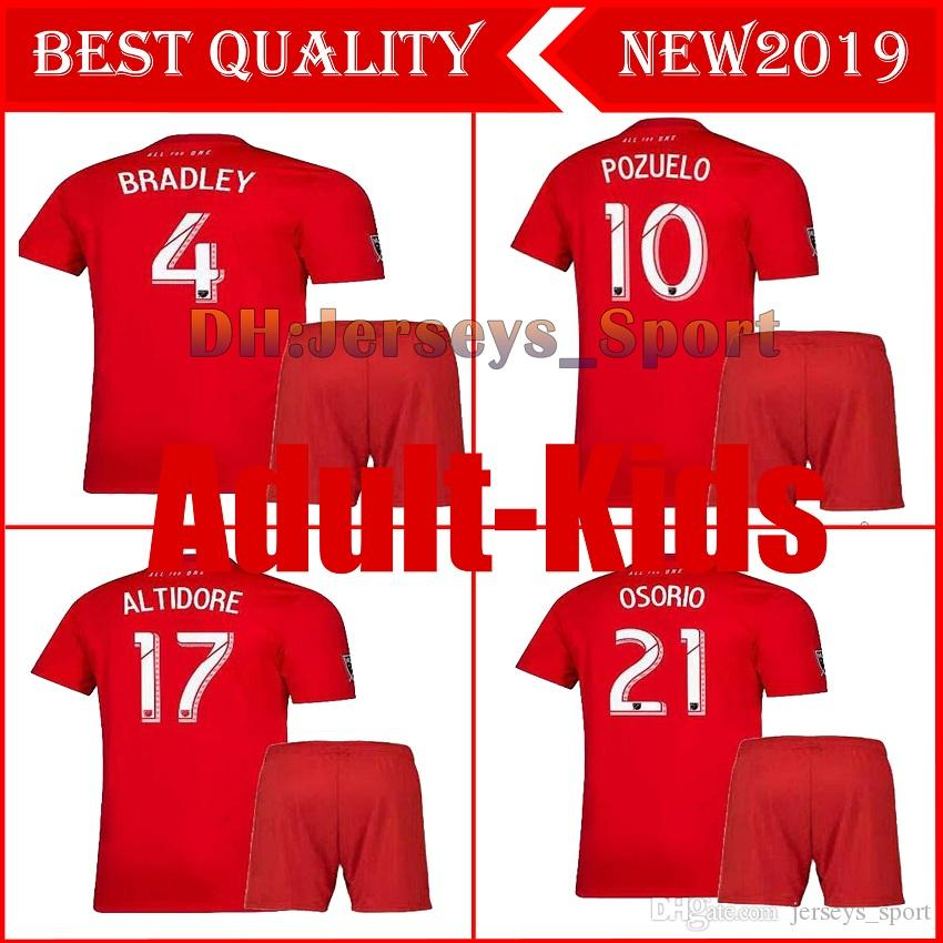 adult kit 2019 2020 Toronto FC soccer jersey home 19 20 kids ALTIDORE BRADLEY OSORIO MORROW Ciman DeLeon kids set football shirt top quality