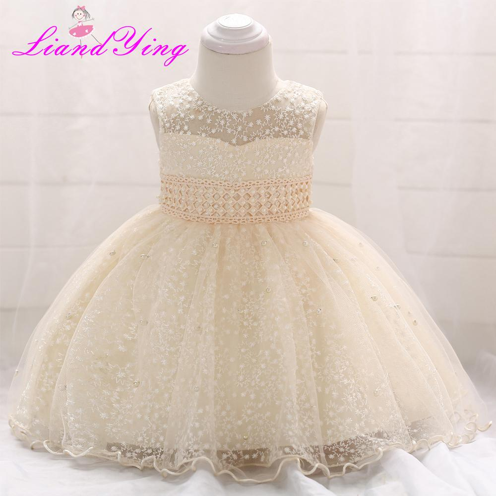 6623a55e8e New Birthday Baby Dress Baby Girl Christening Gowns Baby Girl Baptism  Dresses First Year Tutu Girl Dress J190525