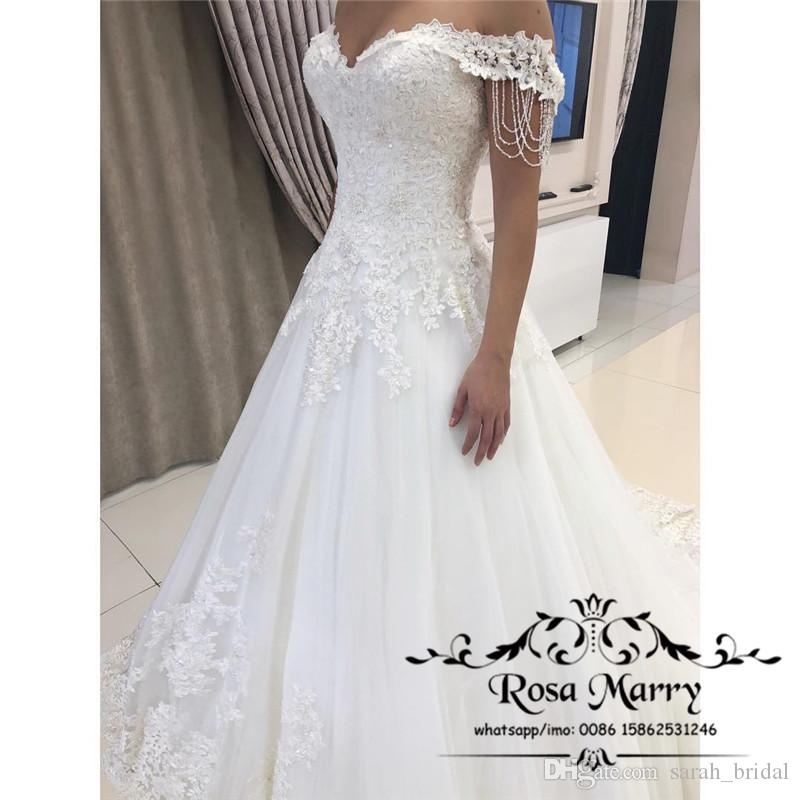 Discount Modest Plus Size Country Beach Wedding Dresses 2019 A Line