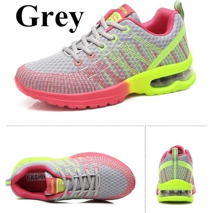 695d9cfdd8d Compre Nuevas Zapatillas De Deporte Ligeras De Amortiguación De Aire Para  Mujer Zapatillas De Correr Cómodas Y Cómodos Para Mujer Zapatos Deportivos  ...