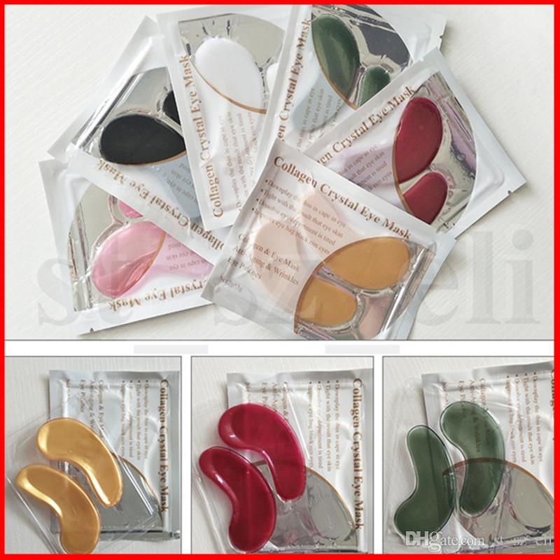6 Colors LANBENA 24K Gold Eye Mask Collagen Eye Patches Anti Dark Circle Puffiness Eye Bag Moisturizing Skin Care