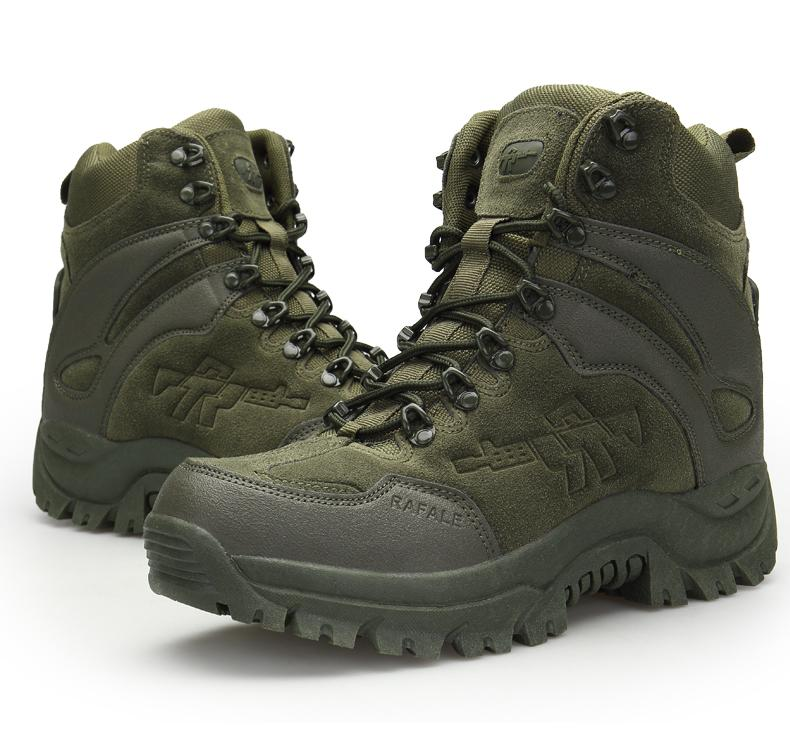 be45bc954e0 Autumn Winter Mens Military Tactical Boots Leather Desert Outdoor Combat  Army Boots Hiking Shoes Travel Botas Male Trekking Size EU39-46