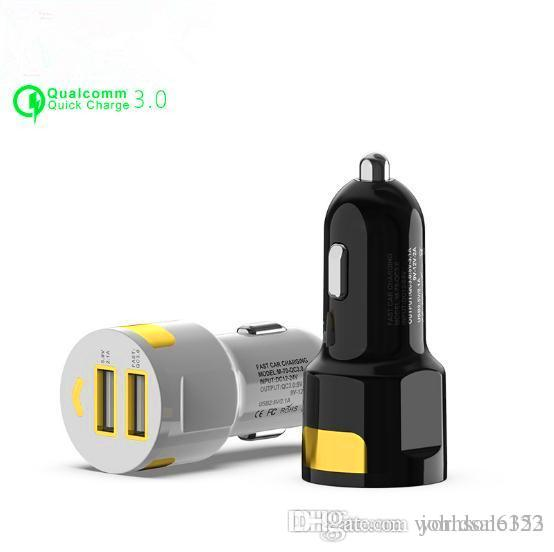 b8168e4b917 NEW Max 5.2A Dual USB Quick Charge QC 3.0 Car Chargers For IPhone USB 2  Ports Type C PD Fast Charger Mobile Phone Quick Charger Car Charger Car  Tablet ...