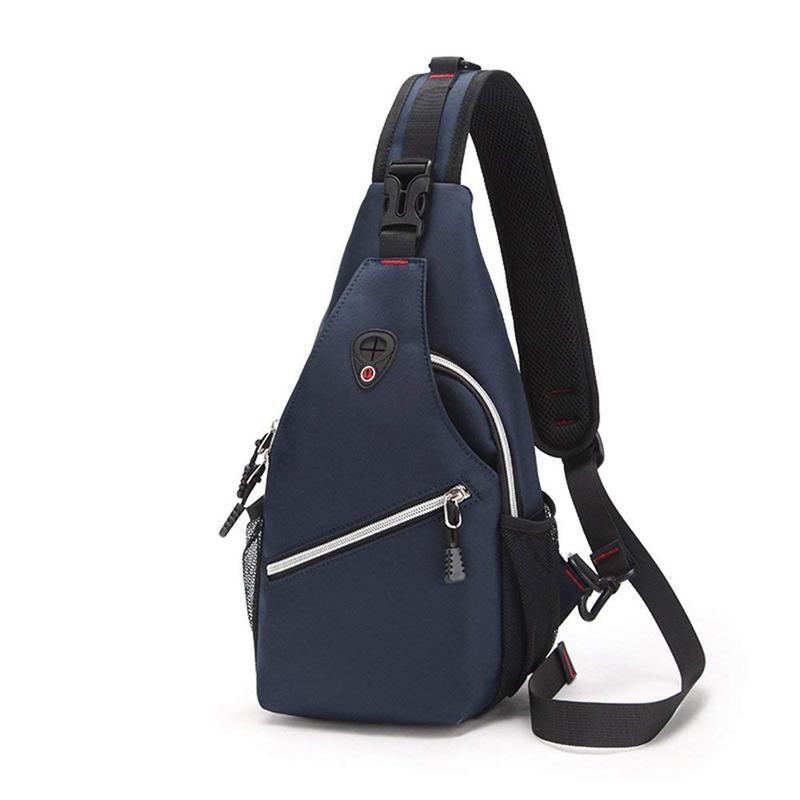 bfa9f7c73754 Sling Shoulder Bag for Men Women,Oxford cloth + nylon Sling Chest bag  Crossbody Backpack for Travel Outdoor Cycling