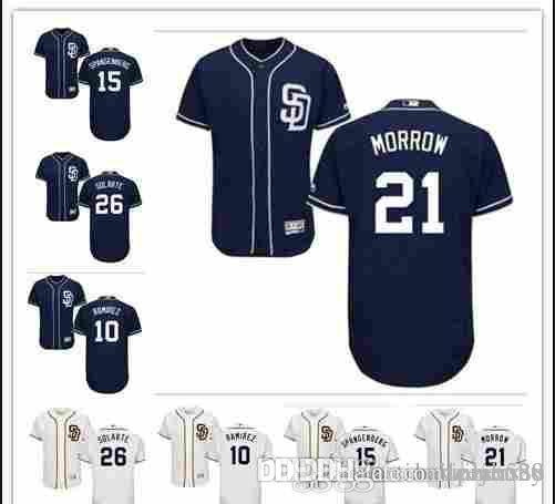 best cheap c7928 9a63c custom Men's women youth Majestic SD Padres Jersey #10 Alexei Ramirez 21  Morrow 26 Yangervis Solarte 24 Rickey Henderson Baseball Jerse