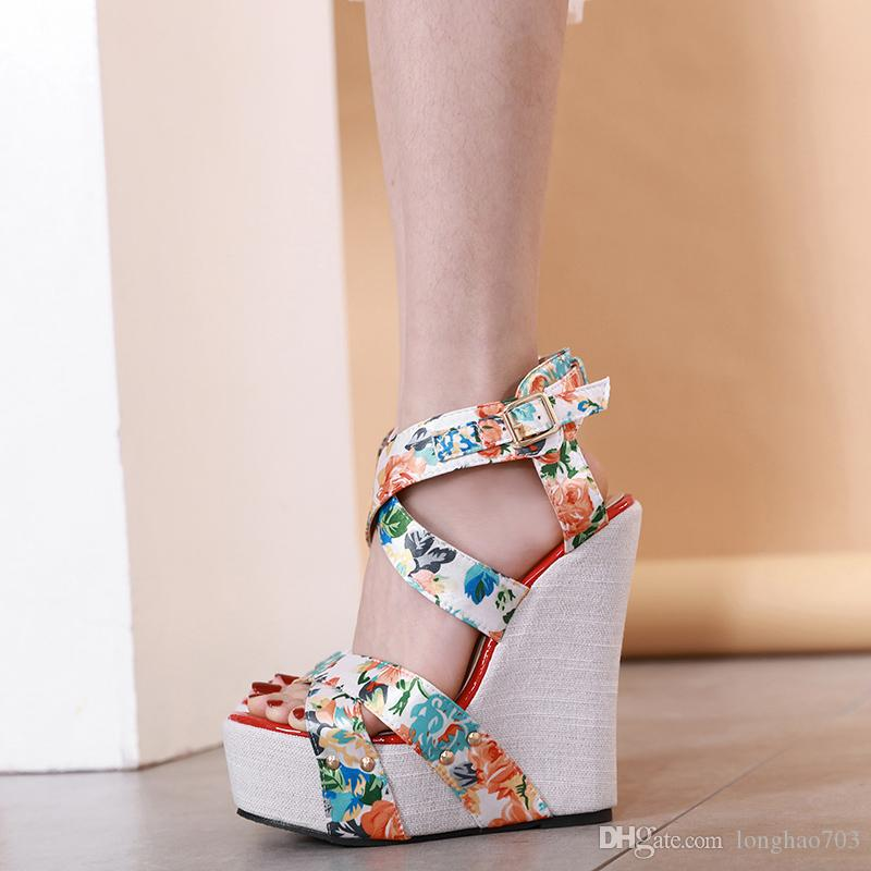 33327f604e Wedges Sandals Summer Pumps With Ankle Strap Sandals Stripper Heels ...