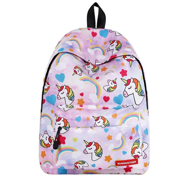 Teens Girls Boys Backpack Horse Print Shoulder Bookbag School Satchel Daypacks