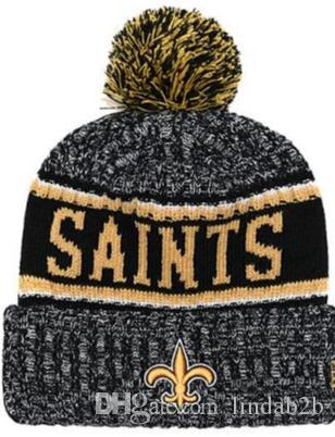 1291cadb35d 2019 Saints Beanie NO Sideline Cold Weather Graphite Official Revers Sport  Knit Hat All Team Winter Warm Knitted Wool Skull Cap 1000+ UK 2019 From  Lindab2b