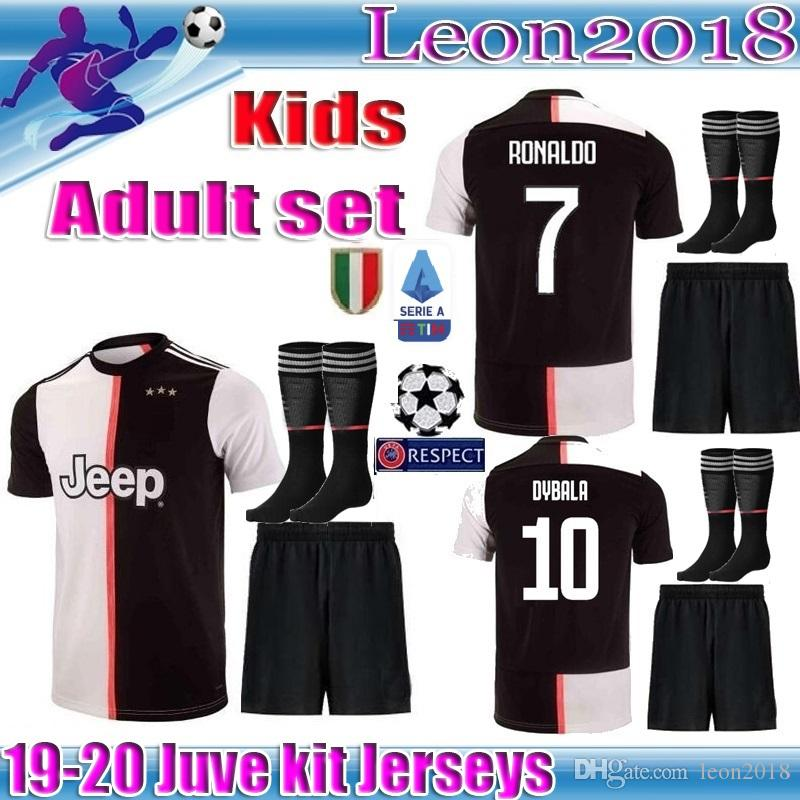 4fda4ade1 2019 Adult Kids Kit 2019 Juventus RONALDO Soccer Jersey 19 20 MANDZUKIC  Football Shirt Men Youth Set DYBALA JUVE Camiseta De Futbol From Leon2018