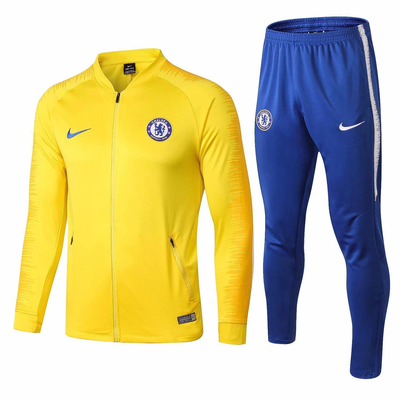 d0bd3e5b3c3a4 Compre 3 Trajes Envío Gratis DHL 18 19 Temporada Chándal Azul Chelsea 2018  2019 Peligro Camiseta De Fútbol Traje De Entrenamiento Kante Chelsea  Chaquetas ...