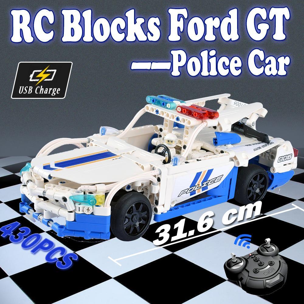Gt Police Télécommande Contrôle Compatible Jouet Voitures Jouets Enfants Non Modèle Assemblée Building De Rc Pour Blocks Ford Voiture Legoing shrQdtC