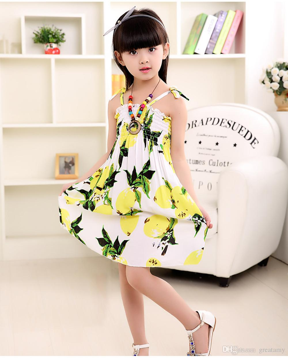 2019 Summer Girl Dress Baby Clothes Chinese Style Bohemian Dress