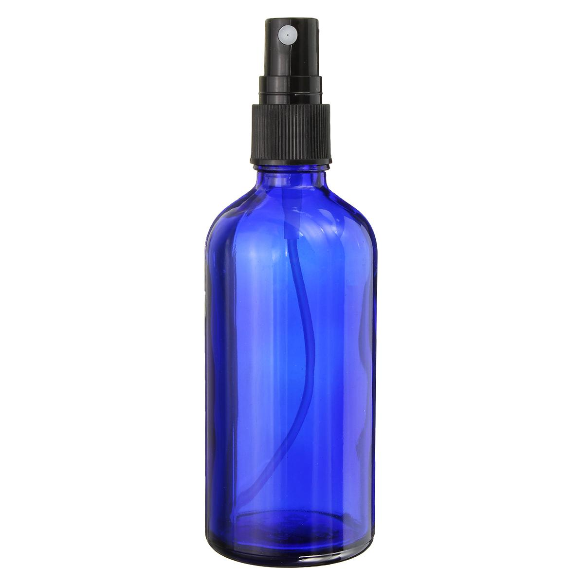 35 unids100 ml Azul Vacío Perfume Spray Botella de Vidrio Aceite Esencial Líquido Rociador Dispensador de Viaje Fina Menta Atomizador Envase Cosmético