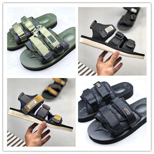 a25436705 2019 16SS CLOT MOTO VS BATHING Needle God Man SUICOKE Sandals Japan Women  Beach Slippers Sexy Fashion Camo Slides Bandage Sandals From Happysneakers,  ...