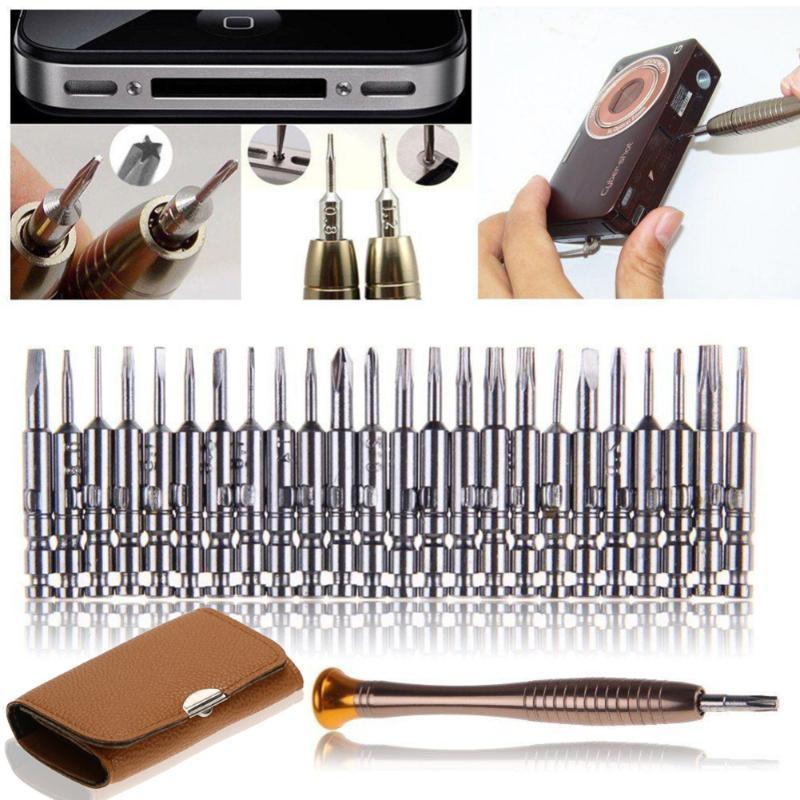 25 in 1 Screwdriver Set Opening Repair Tools Kit for iPhone Camera Watch Precision Screwdriver Set Wallet Kit Repair Tool