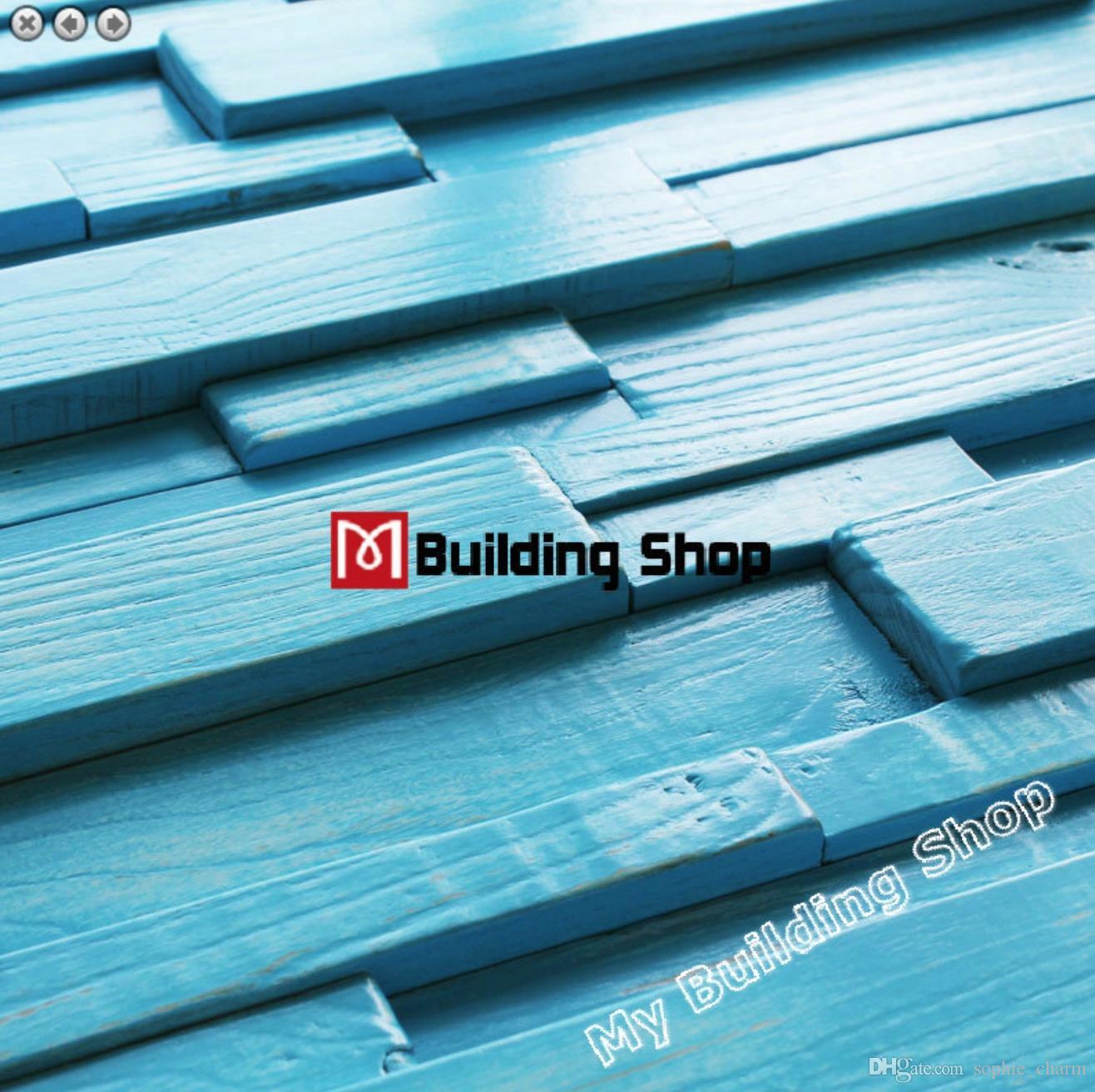 Tremendous 30X60Cm Blue Mosaic Tile 3D Wood Mosaic Backsplash Tile Backsplash Nwmt180 Ancient Wood Tiles Natural Wood Pattern Kitchen Tiles Home Interior And Landscaping Synyenasavecom
