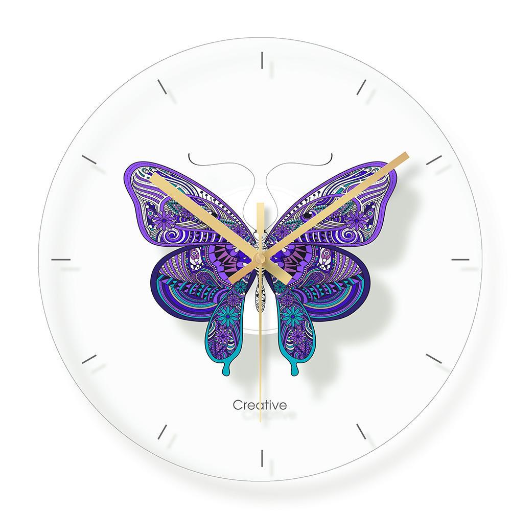 Glass Butterfly Wall Clock For Kids Room Wall Decor Table Decorative Mute  Quartz Clocks Nordic Saat Nursery Home Decoration Modern Clocks For Sale  Modern ...