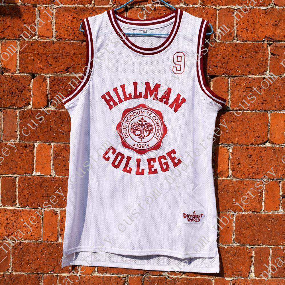 dff96a822e5d 2019 Custom Dwayne Wayne 9  Hillman College Theater Basketball WHITE Jersey  Stitched Customize Any Name Number MEN WOMEN YOUTH JERSEY XS 5XL From ...