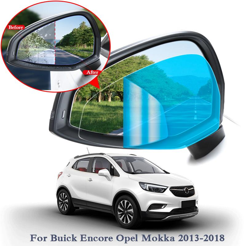 2PCSAnti Fog Car Window Clear Film Car Rearview Mirror Protective Film For Buick Encore Envision Opel Mokka Insignia Waterproof