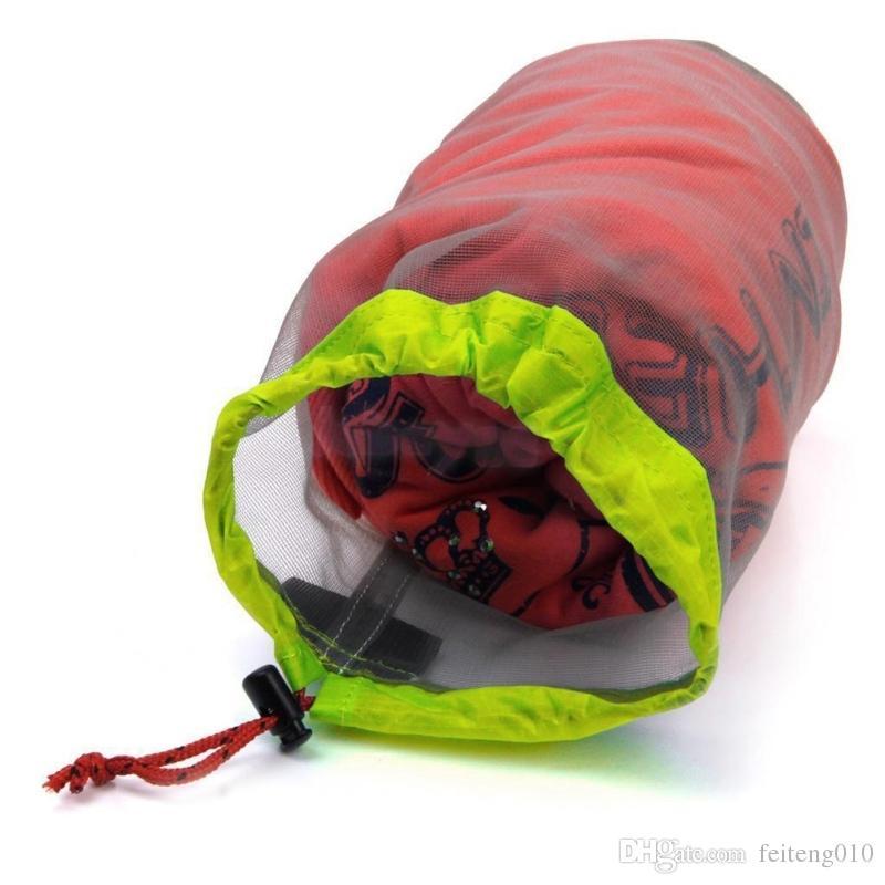 77927308c Ultralight Mesh Stuff Sack Outdoor Camping Storage Bag Portable Mesh Bag  Sports Travel Stuff Pouch Drawstring Clothing Organizer #158991