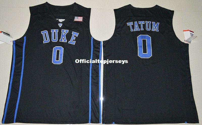 cheap for discount 0b2ec 0e74d #0 Jayson Tatum jersey Duke Blue Devils Top Basketball Jerseys Mens 100%  Double Stitched Top Quality XS-6XL vest Jerseys Ncaa