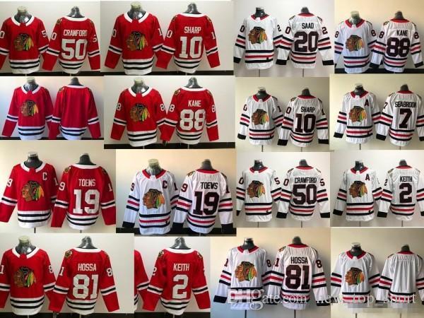 Compre Camisetas De Hockey 2018 Camiseta Chicago Blackhawks Artemi Panarin  2 Duncan Keith 88 Patrick Kane 19 Jonathan Toews 50 Corey Crawford A  42.22  Del ... e6924c49fb676