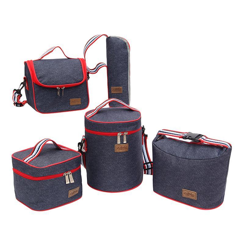 Mittagessen Taschen Frische Kühltasche Thermische Mode Tragbare Tote Kühler Lunch Bag Für Frauen Kinder Lebensmittel Picknick Veranstalter Tasche